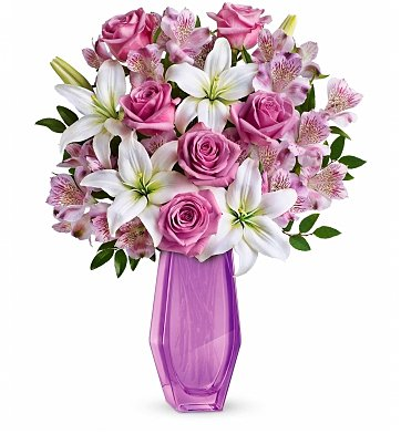 Lovely lavender mother 39 s day bouquet flower bouquets a for Mothers day flower arrangements